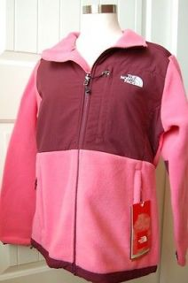 NWT AUTH THE NORTH FACE WOMENS DENALI FLEECE JACKET PINK PEARL & RED