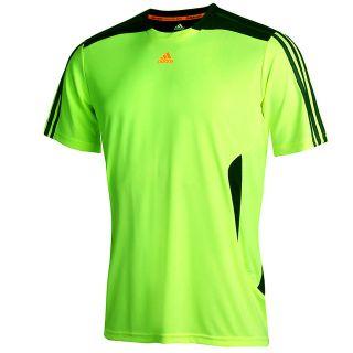 Adidas ClimaCool Mens Hi Viz Short Sleeve Running Top   Training Tee