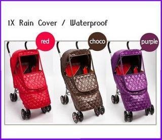 1X Rain snow cover for compact lightweight stroller peg Perego Pliko
