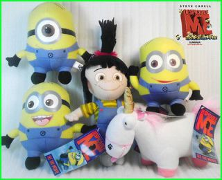 5X Despicable Me Minion Unicorn Fan Keepsake Plush Toy Stuffed Animal