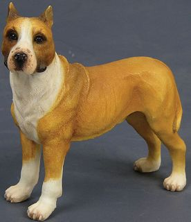 AMERICAN STAFFORDSHIRE TERRIER DOG FIGURINE *LIFELIKE*!
