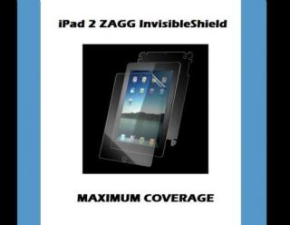 ZAGG iPAD 2 FULL body MAX Maximum Invisible Shield NEW fits Wifi+3G