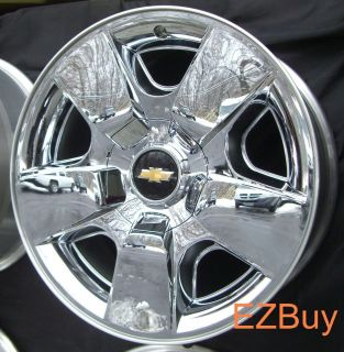 20 INCH AVALANCHE SILVERADO TAHOE 2009 2011 NEW FACTORY CHROME WHEEL