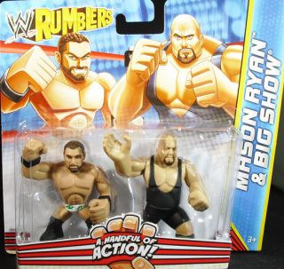 MASON RYAN & BIG SHOW   WWE RUMBLERS TOY WRESTLING ACTION FIGURES