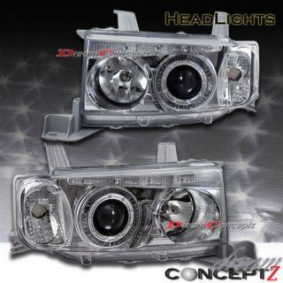 SCION xB CHROME HALO PROJECTOR HEADLIGHTS CLEAR (Fits Scion xB 2005