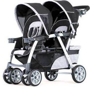 Chicco Cortina Together Stroller w/TWO Chicco Cortina Keyfit Car Seats