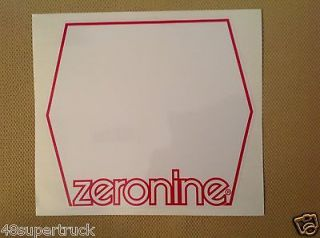 Zeronine NUMBER PLATE DECAL BMX BIKE BICYCLE WHITE RED STICKER