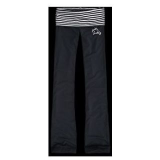 GILLY HICKS BY ABERCROMBIE NAVY BLUE STRIPES YOGA PANTS BOOTCUT XS