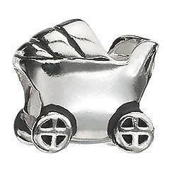 listed Authentic Chamilia BABY CARRIAGE Sterling Silver Bead Charm
