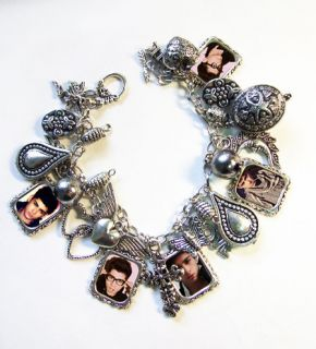 ONE DIRECTION JEWELLERY   ZAYN MALIK CHARM BRACELET   SILVER PLATED