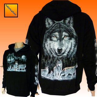 Biker Wolf Eagle Native American Red Indian Zip Zipped Hoodie Hoody