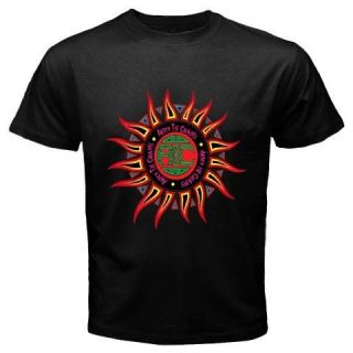 New ALICE IN CHAINS GRUNGE Sun Logo Rock Band Mens Black T Shirt