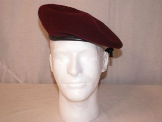 US ARMY Military Issue Maroon BERET   Size 6.5 NEW