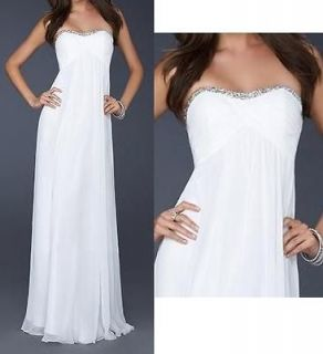 SILVER TRIM Maternity Pregnant Formal Evening Gown Wedding Prom Dress