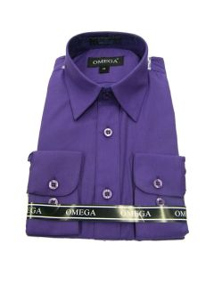 purple boys dress shirt in Tops, Shirts & T Shirts