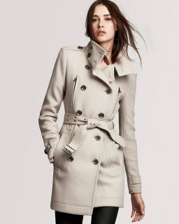 Funnel Neck Trench Coat Charcottley Wool Cashmere Size 8 NEW $1095