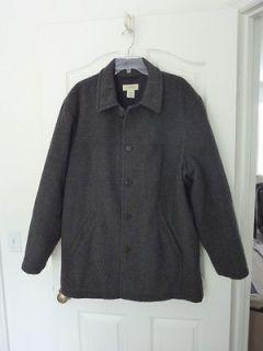 Gorgeous WArM J Crew Gray Wool lined jacket Coat LG EUC