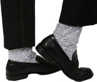 Michael Jackson Billie Jean Silver Glitter Leg Cuffs