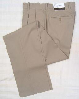 Corbin Artisan Worsted Wool Dress Pants Trousers Tan 32W NWT $149