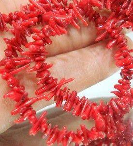 natural red coral beads in Jewelry & Watches