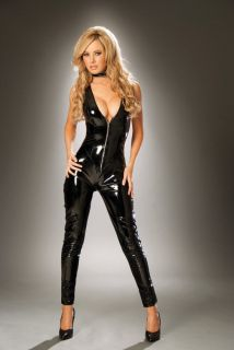 PVC Catsuit with Zipper Front by Elegant Moments intimate apparel