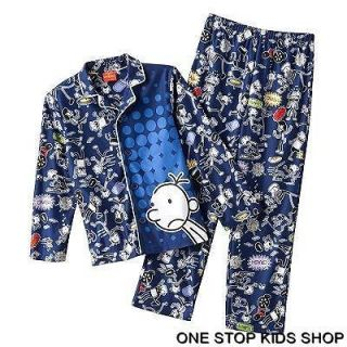 OF A WIMPY KID Boys 6 8 10 12 Flannel Pjs Set PAJAMAS Shirt Top Pants