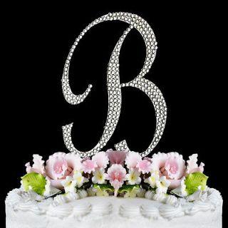 Swarovski Crystal Monogram Wedding Cake Toppers Letter