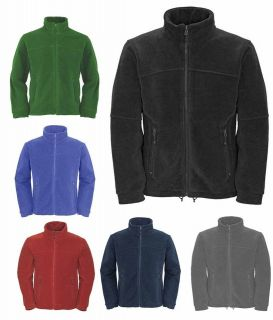 Mens Full Zip Classic Fleece Jackets Sizes XS to 4XL SUITABLE FOR WORK