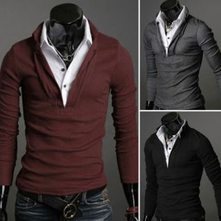 mens long sleeve shirts in Casual Shirts