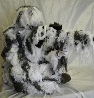 New Full Body Snow Camo Ghillie Suit Mens XL/XXL 4PC.Great Value and