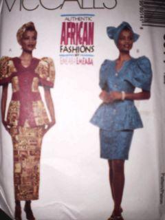 UNCUT McCalls Pattern Top Skirt Headwrap African 8014