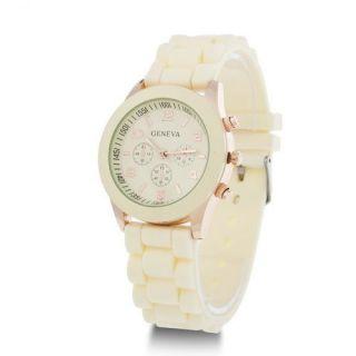 Fashion Geneva Silicone Jelly Gel Quartz Analog Sports Wrist Watch