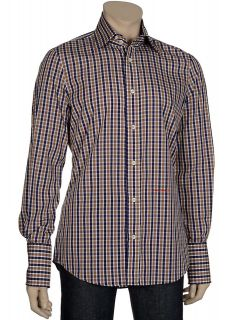 445 DSQUARED Slim Fit Plaid Dress Shirt Small S (I Have A Dream) Made