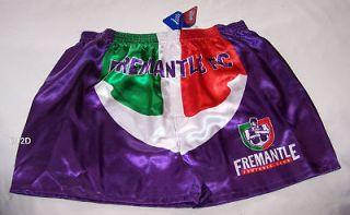 Fremantle Dockers AFL Mens Satin Boxer Shorts Size L New