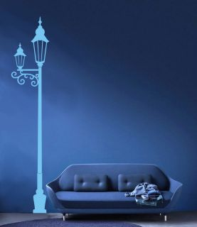 LAMP POST WALL ART STICKER VINYL DECAL GRAPHIC ROOM 7ft HIGH DESIGN