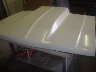 Fiberglass 4 inch cowl Bolt on Chevy truck Hood 81 87