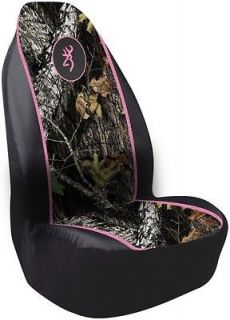 pink browning seat covers in