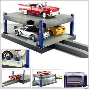 BATTERY OPERATED CAR LIFT 2 FLOORS 1/24 DIECAST CAR