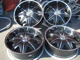 DOGGY STYLE BLACK WHEELS RIMS AND TIRES PACKAGE GIANNA LEXANI ASANTI