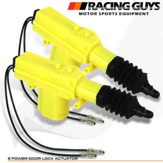 CHEVY FORD ACURA 2X UNIVERSAL POWER DOOR LOCK ACTUATOR (Fits Toyota)