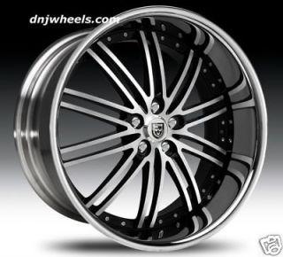 LSS8 BMW 645i 650i M6 745i 750i 760li Machine Black Wheels Tires