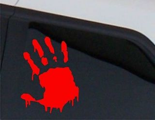 Bloody Hand Print Zombie Outbreak Car Decal Sticker halloween decor