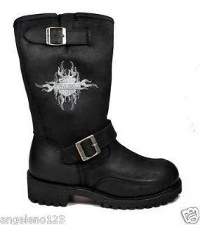 HARLEY DAVIDSON Shoes Logger Conductor Black Men Boots 91066 with