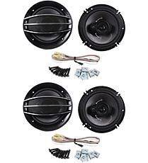 Pioneer TS A1674R 6.5 or 6.75 600w 3 Way Car Audio Speakers+Grilles