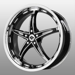 16 inch Black Ice Mayhem Chrome Wheels Rims 5x115 Venture Alero Aurora