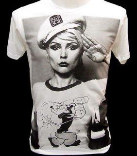 BLONDIE PoPEye Sailor 80s Indie VTG Punk Rock T Shirt L