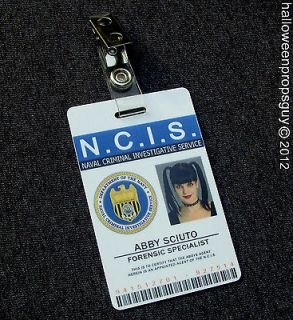 NCIS Forensic Specialist Abby Sciuto PVC ID Card Badge