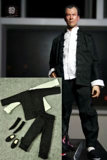 Bruce Lee 1/6 Fist of Fury Black Suit @@@ Kung Fu RM 5 Shirt Head