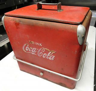 Cooler Coca Cola Cooler Antique Coke Ice cooler Authentic USA ACTON