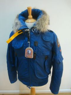 PARAJUMPERS P.J.S PARA JUMPERS MAN GOBI JACKET NEW WITH TAGS BLUE